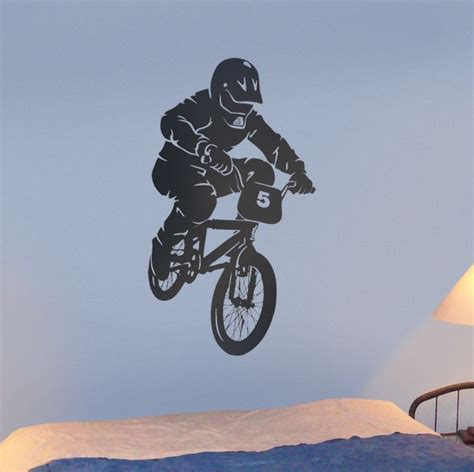 bmx wall stickers autocollant mural sports loisirs bmx