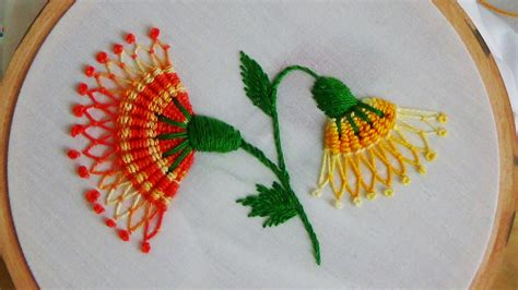 Handmade Embroidery Patterns - embroidery spiderweb stitch