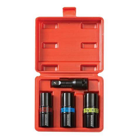 Husky 52 Socket Set Rental In Tx by Tekton 1 2 In Drive Impact Flip Socket Set 4 4950
