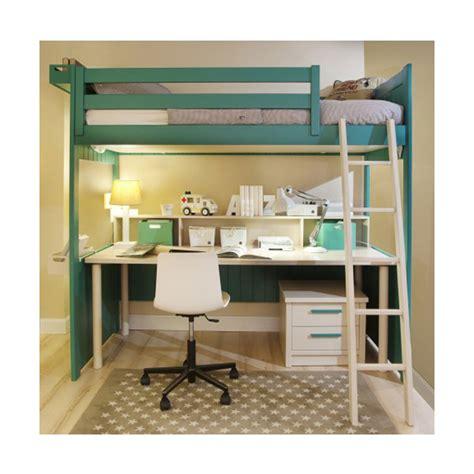 lit superposé avec bureau vieux chambre