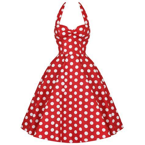 kleid gepunktet retro kleid damen vintage rot gepunktet 50er jahre stil