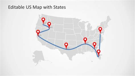 us map with editable states editable us map template for powerpoint with states