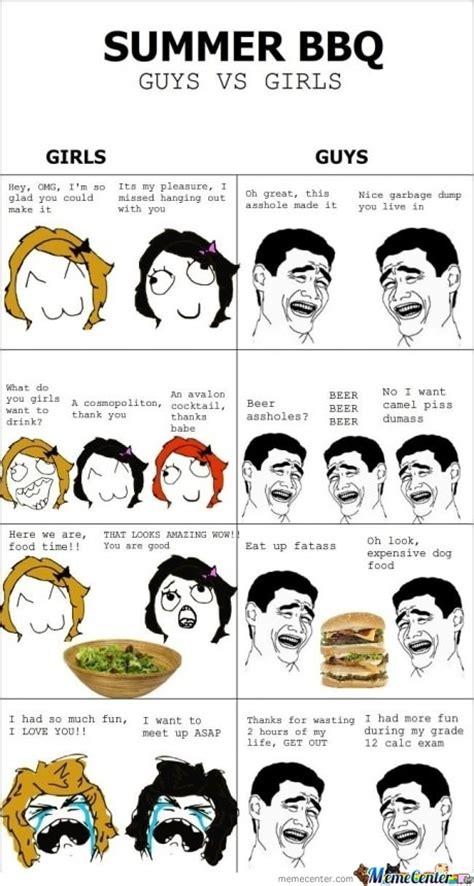 Meme Vs Meme - men vs women summer bbq by tobbaren meme center