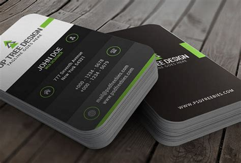 information card template psd free business card template psds for photoshop 100 free