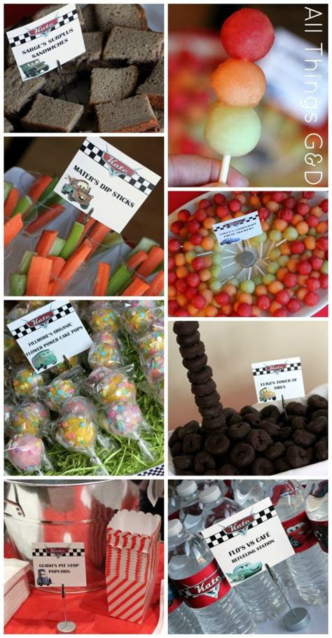 cars themed birthday ideas the making of kate s cars birthday party all things g d