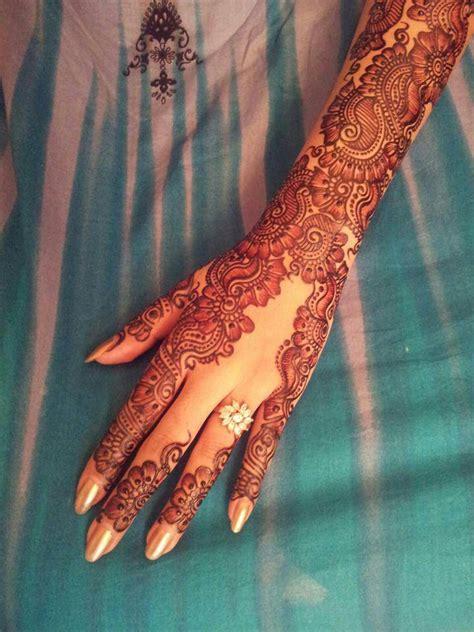 full hand henna mehndi design india pakistan mehndi design