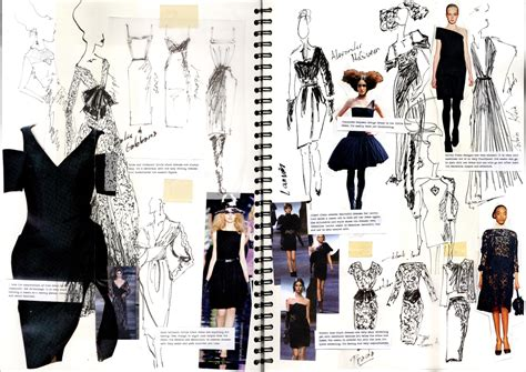 sketchbook design chimera black dress sketchbook