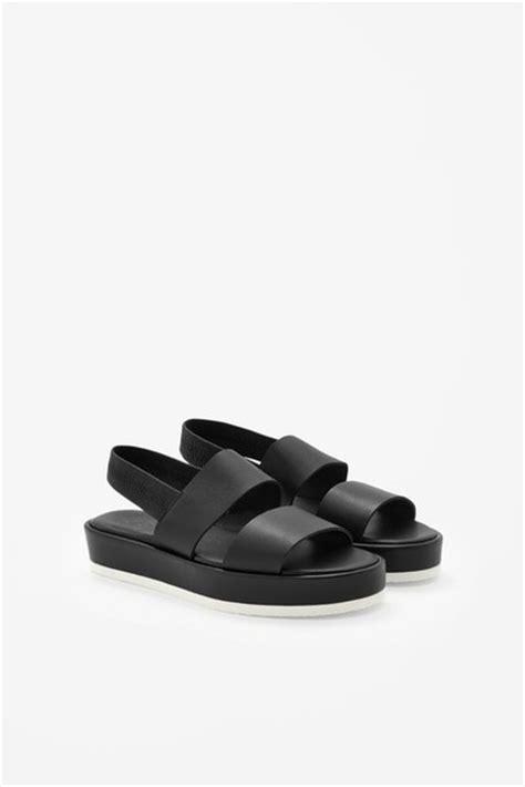 cos platform sandals shoes black chunky sandals platform shoes