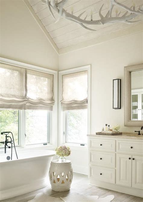 ceiling paint benjamin limewash plank ceiling transitional bathroom