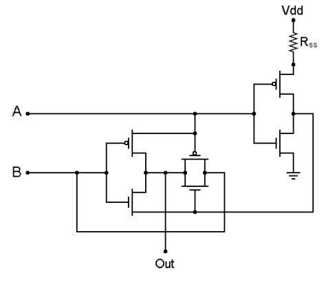 xor gate transistor level xor gate