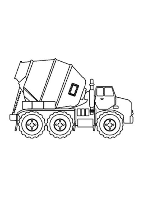 coloring concrete concrete truck transportation coloring pages for
