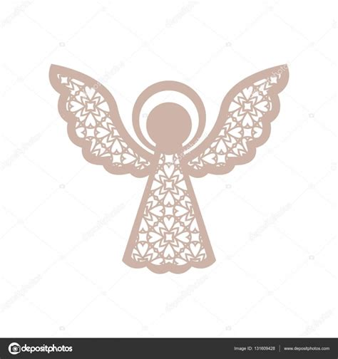 christmas angel with geometric pattern laser cutting