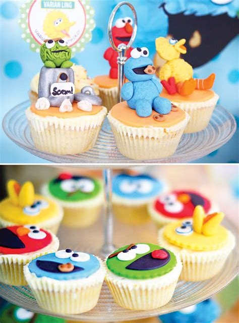 Baby's One Month Sesame Street Party Dessert Table