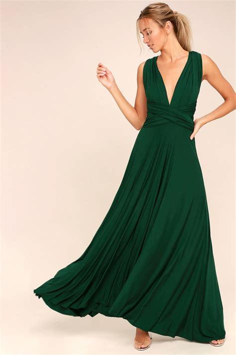 Satin Wrap Top Emerald awesome forest green dress maxi dress wrap dress