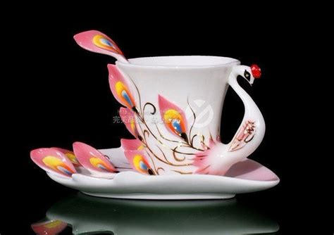 New innovative design Pink craft cup Mugs Enamel Coffee Cup Ceramic Tea Cup in Coffee & Tea Sets