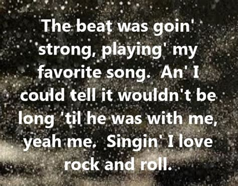 song rock rock quotes from songs quotesgram