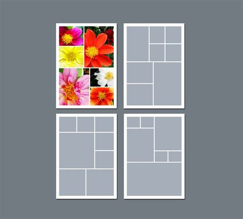 Instant Download Photo Collage Template Digital Template Collage Template