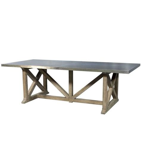 metal top tables dining industrial rustic metal top dining table for sale at 1stdibs