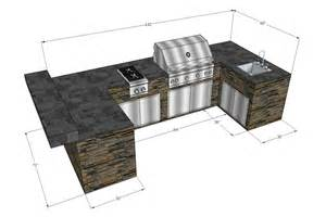 Custom designed barbecue islands grill modules