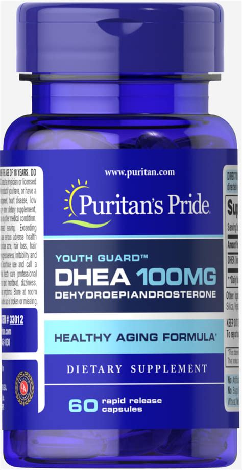 dhea s supplement dhea 100 mg 60 capsules dhea supplements puritan s pride