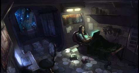 cyberpunk bedroom by julxart deviantart com on deviantart cabin by sanchiko on deviantart sci fi insp pinterest