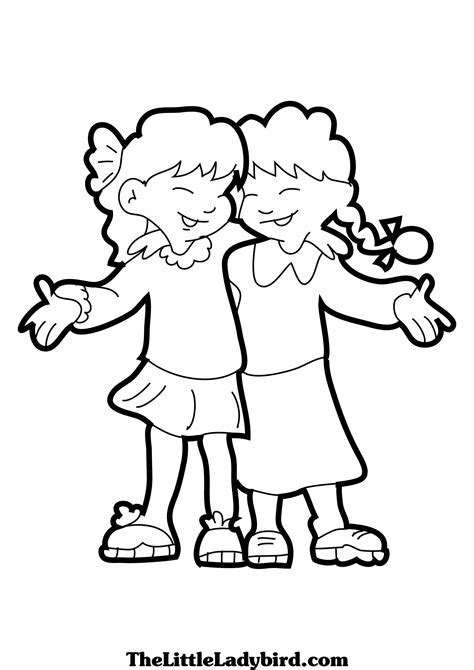 best friend coloring pages 27927 bestofcoloring com