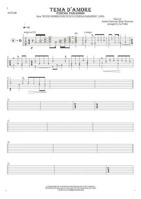 love theme morricone love theme cinema paradiso tablature rhythm values