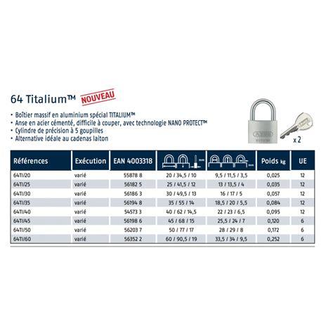 cadenas a clef abus cadenas 224 cl 233 s vari 233 s anse en acier c 233 ment 233 titalium