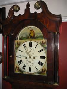 antiques atlas painted face  day grandfather clock