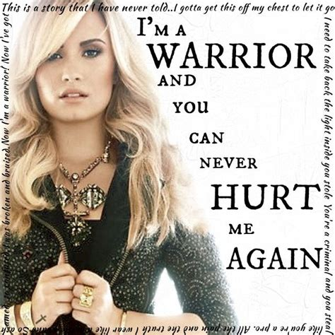 what is demi lovato s warrior song about demi lovato song lyrics warrior music quotes sayings