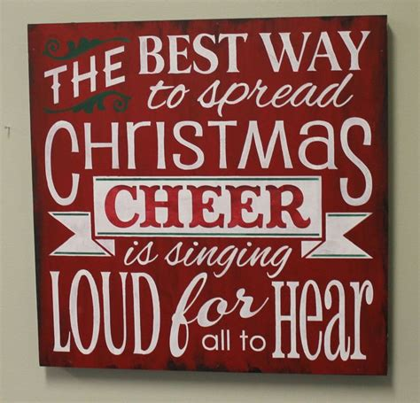 christmas sign spread christmas cheer xxlg sign red white