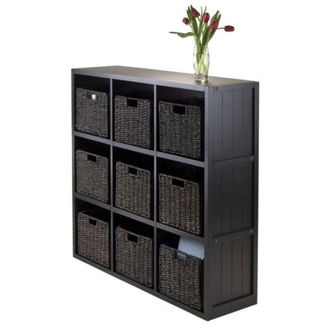 Wainscoting Shelf by 10pc 3x3 Wainscoting Shelf With 9 Baskets In Black 20840