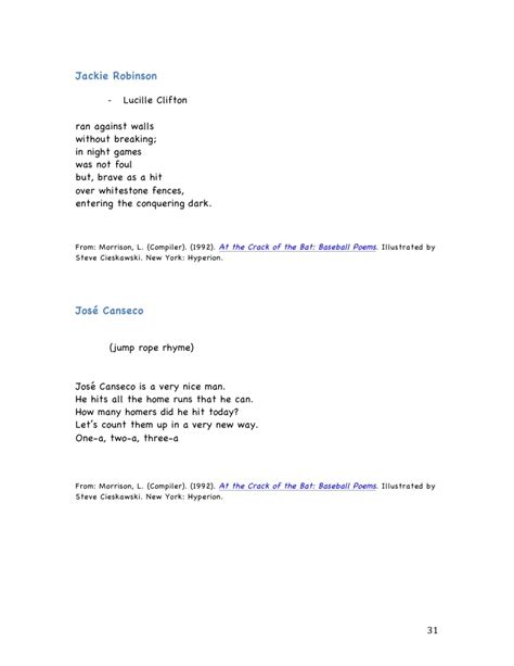 Jackie Robinson An American Poem Related Keywords Suggestions For Jackie Robinson Poems