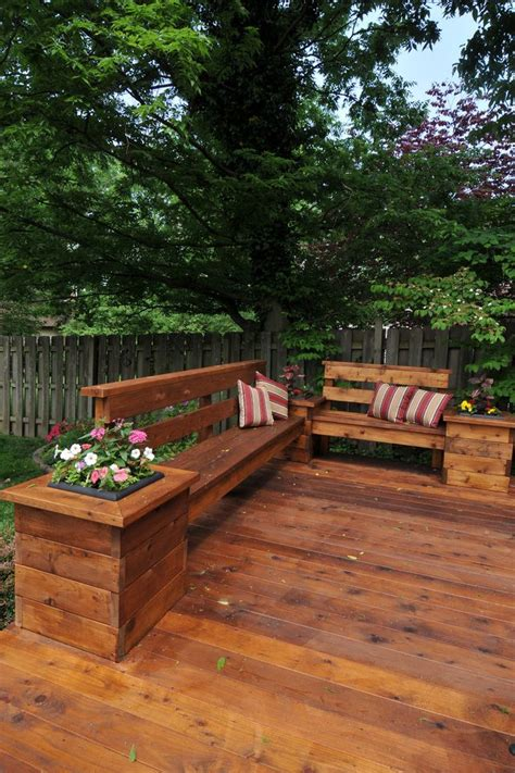 natural wood garden bench deck seating patio contemporary with natural wood deck