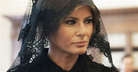 heres  melania trump wore black  meet  pope