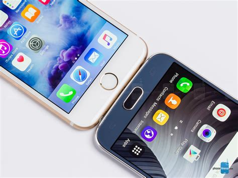 iphone v samsung apple iphone 6s vs samsung galaxy s6