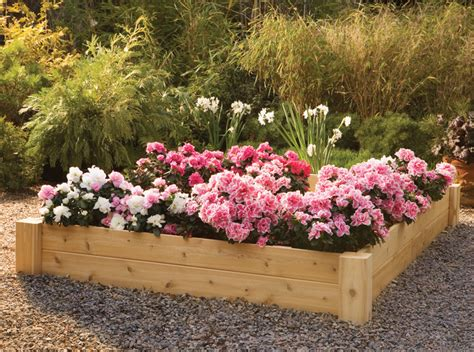 Cedar Raised Flower Beds Interesting Ideas For Home Raised Bed Flower Garden