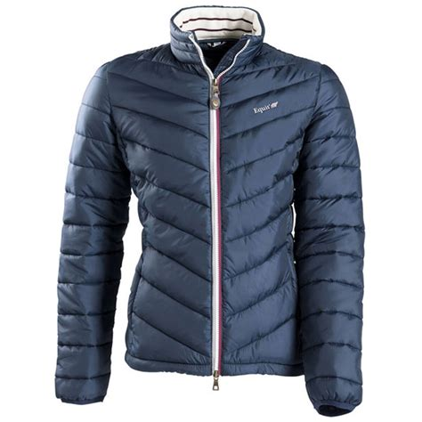 padded riding jacket equitheme ladies padded jacket winter quilted horse riding