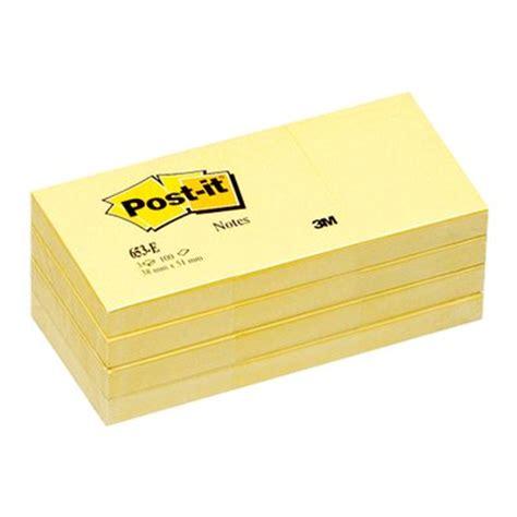 Post It 656 3m 2 notas post it rectangulares amarillas 656