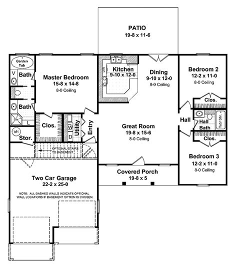 v a floor plan ranch style house plan 3 beds 2 baths 1400 sq ft plan