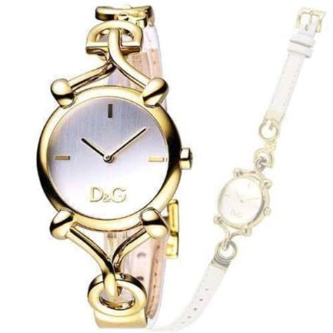 DOLCE & GABBANA D&G DW0500 Flock Gold Ladies Watch