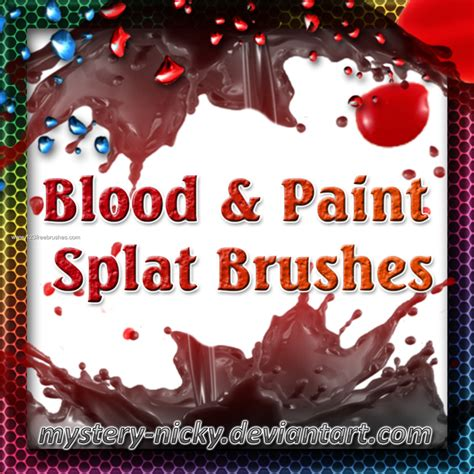 blood paint blood and paint splat cool photoshop 123freebrushes
