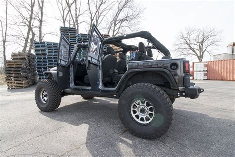 jeep jku doors jcr offroad front crusader half trail doors for jeep