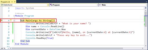 console writeline debug your c or visual basic hello world net
