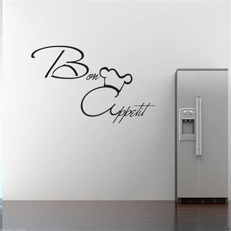 stencil stickers for walls bon appetit wall sticker kitchen vinyl quote decal mural stencil transfer ebay