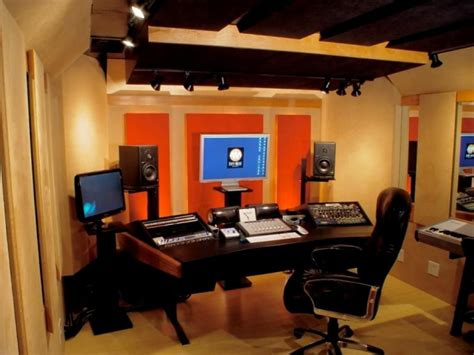 small home studio desk modern black wood studio desk design with curved shaped