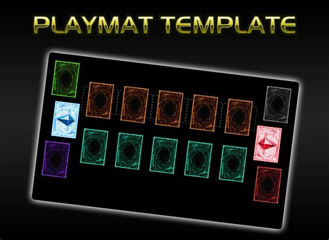 yugioh card zones template playmat template pendulum by grezar on deviantart