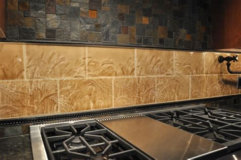 Wall Tile For Kitchen Backsplash Living Walls Wheatfield Tile Backsplash