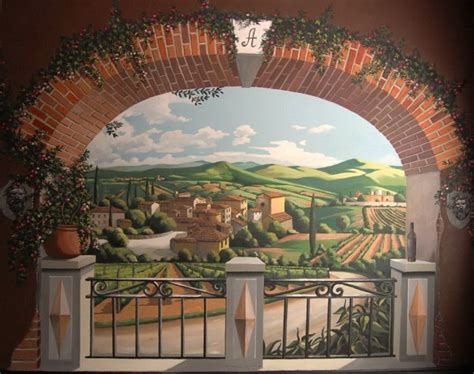tuscany wall murals mural of chianti region tuscany