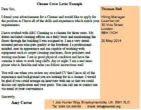 Carpet Cleaning Technician Cover Letter by Post Reply